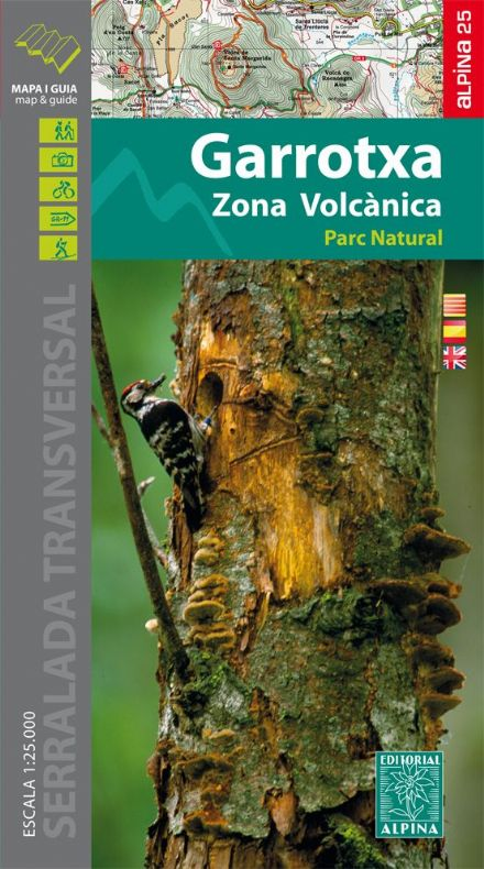 Garrotxa - PN de la Zona Volcanica Map & Hiking guide 1:25 000  Alpina Editorial 083